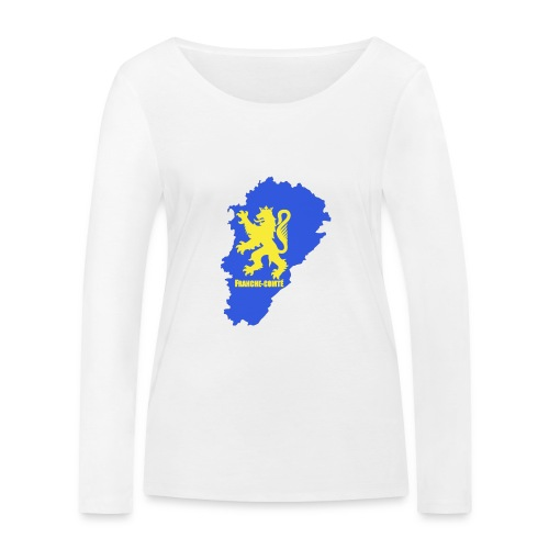 Carte Franche-Comté + lion - T-shirt manches longues bio Stanley & Stella Femme