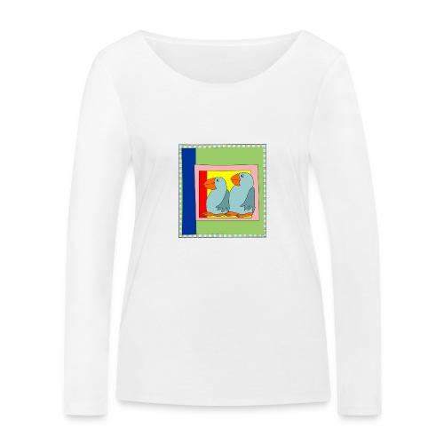 Colorart1 - Maglietta a manica lunga ecologica da donna di Stanley & Stella
