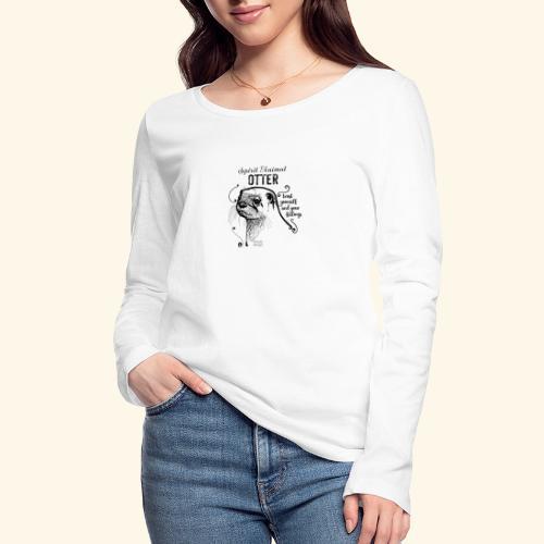 Spirit Animal Otter schwarz - Frauen Bio-Langarmshirt von Stanley & Stella