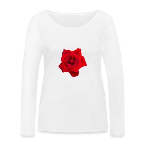 Red Roses - Ekologiczna koszulka damska z długim rękawem Stanley & Stella