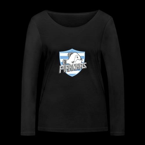 Logo Piranhas v5 - T-shirt manches longues bio Stanley & Stella Femme