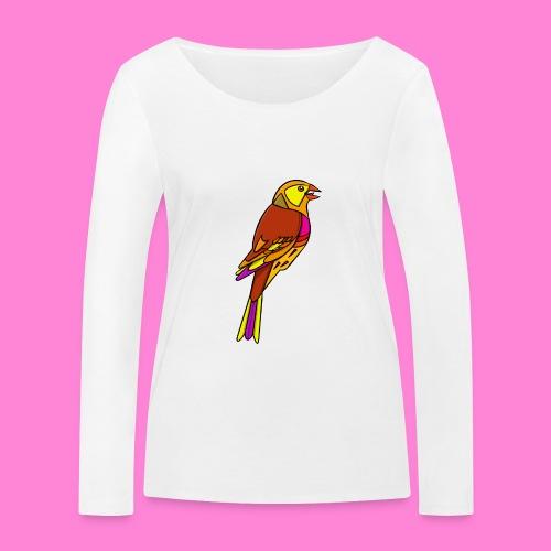 Geelgors illustratie - Vrouwen bio shirt met lange mouwen van Stanley & Stella