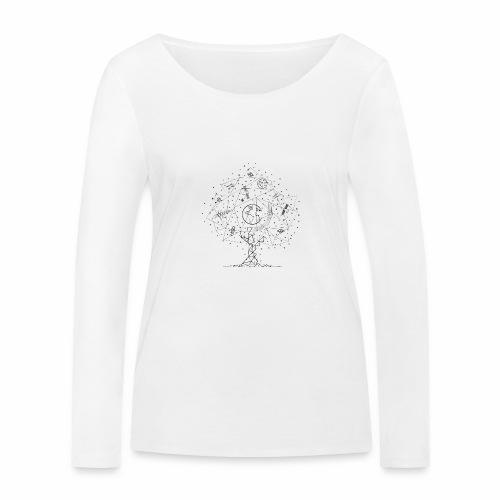 Interpretacja woodspace - Ekologiczna koszulka damska z długim rękawem Stanley & Stella