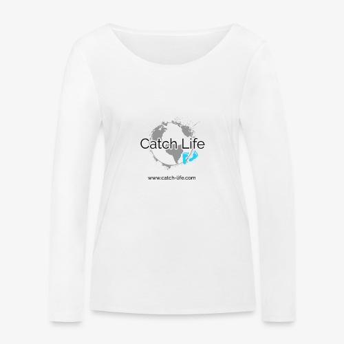 Catch Life Logo - Women's Organic Longsleeve Shirt by Stanley & Stella