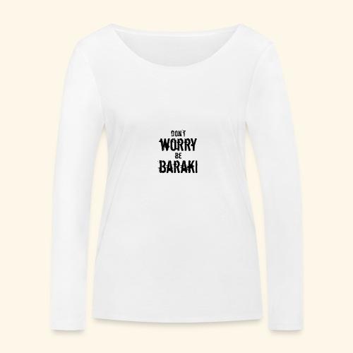 Be Baraki (Noir) - T-shirt manches longues bio Stanley & Stella Femme