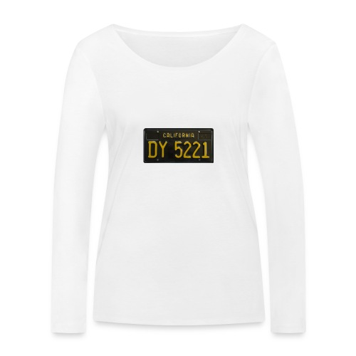 CALIFORNIA BLACK LICENCE PLATE - Women's Organic Longsleeve Shirt by Stanley & Stella