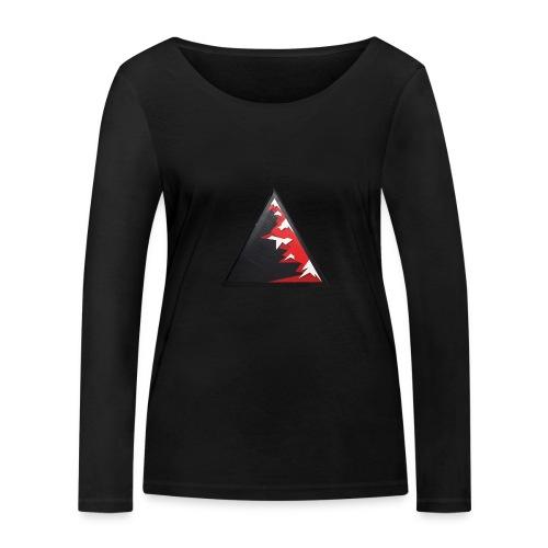 Climb high as a mountains to achieve high - Women's Organic Longsleeve Shirt by Stanley & Stella