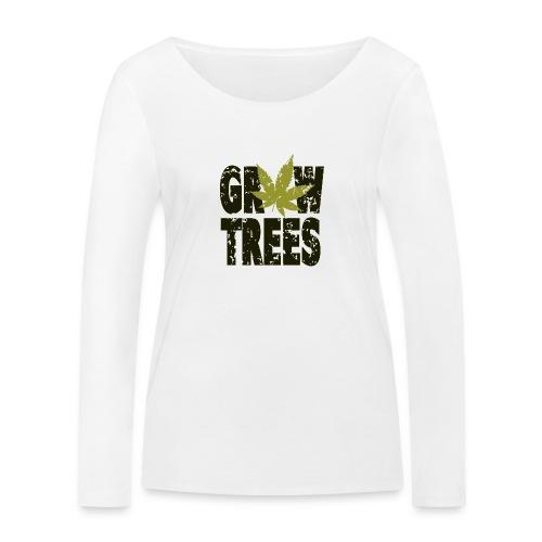 Grow Weed Trees Cannabis - Vintage - Frauen Bio-Langarmshirt von Stanley & Stella