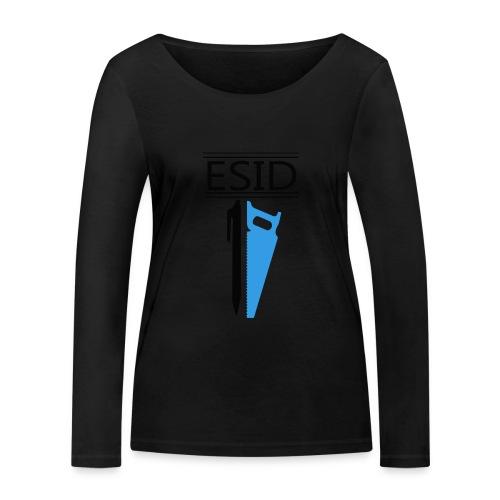 ESID Zwart-blauw - Vrouwen bio shirt met lange mouwen van Stanley & Stella