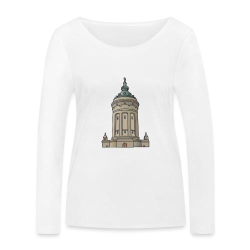 Wasserturm Mannheim c - Frauen Bio-Langarmshirt von Stanley & Stella