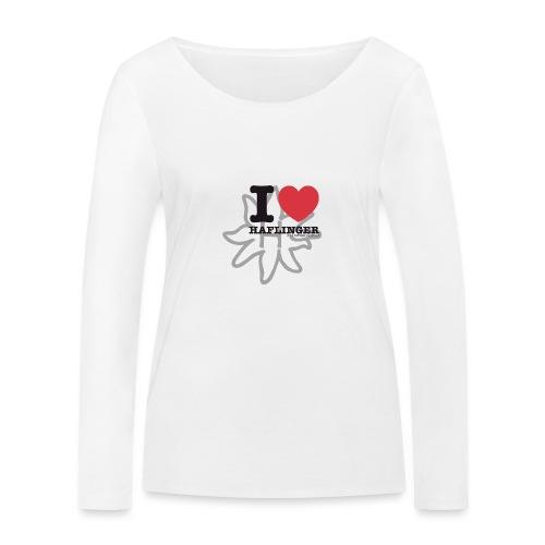 I love Haflinger - Frauen Bio-Langarmshirt von Stanley & Stella