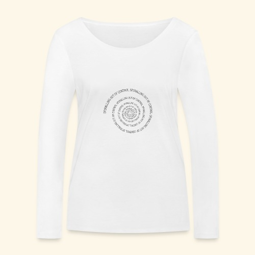 SPIRAL TEXT LOGO BLACK IMPRINT - Women's Organic Longsleeve Shirt by Stanley & Stella