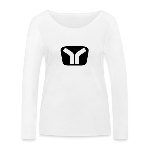 Yugo Logo Black-White Design - Women's Organic Longsleeve Shirt by Stanley & Stella
