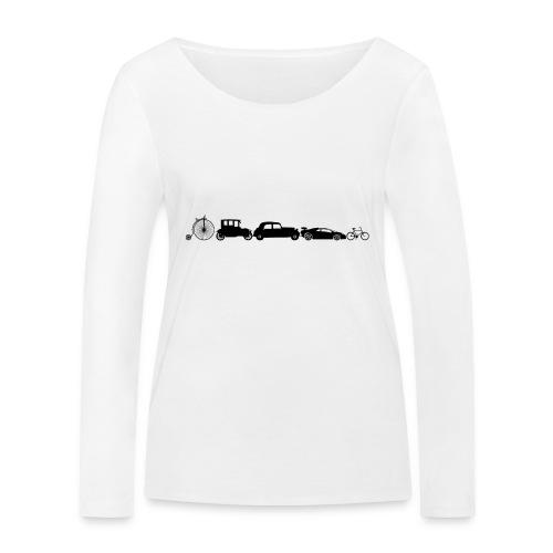 evolution of vechicles - Vrouwen bio shirt met lange mouwen van Stanley & Stella