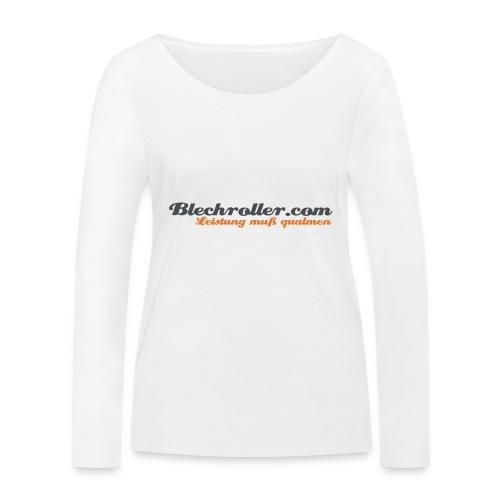blechroller logo - Frauen Bio-Langarmshirt von Stanley & Stella