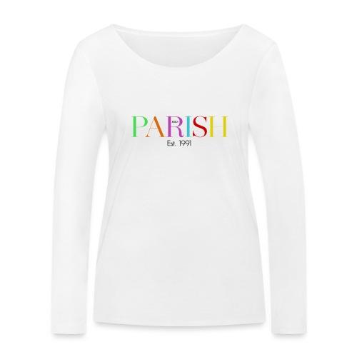 Jessica Parish Color-Schriftzug - Frauen Bio-Langarmshirt von Stanley & Stella