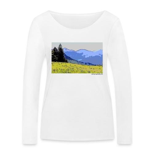 Berge künstlerisch - Frauen Bio-Langarmshirt von Stanley & Stella