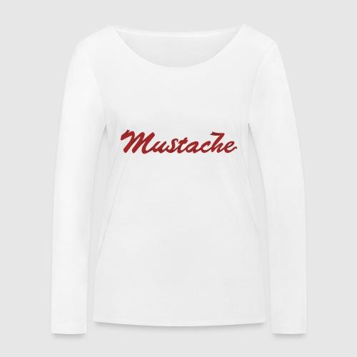 Red Mustache Lettering - Women's Organic Longsleeve Shirt by Stanley & Stella