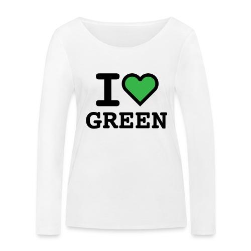 i-love-green-2.png - Maglietta a manica lunga ecologica da donna di Stanley & Stella