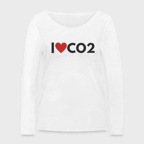 I LOVE CO2 - Stanley & Stellan naisten pitkähihainen luomupaita