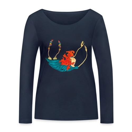 Frit fald - Økologisk Stanley & Stella langærmet T-shirt til damer