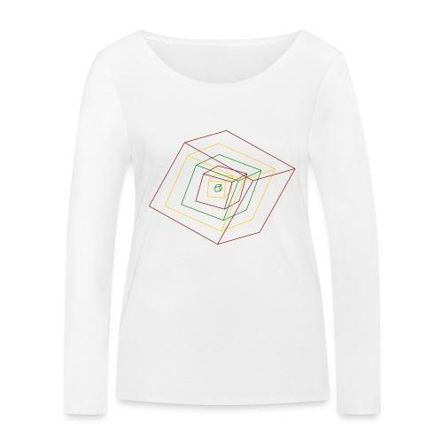 Rasta Cubes - T-shirt manches longues bio Stanley & Stella Femme