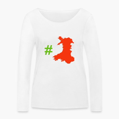 Hashtag Wales - Women's Organic Longsleeve Shirt by Stanley & Stella
