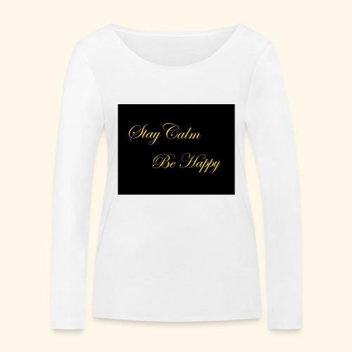 Be Happy - T-shirt manches longues bio Stanley & Stella Femme