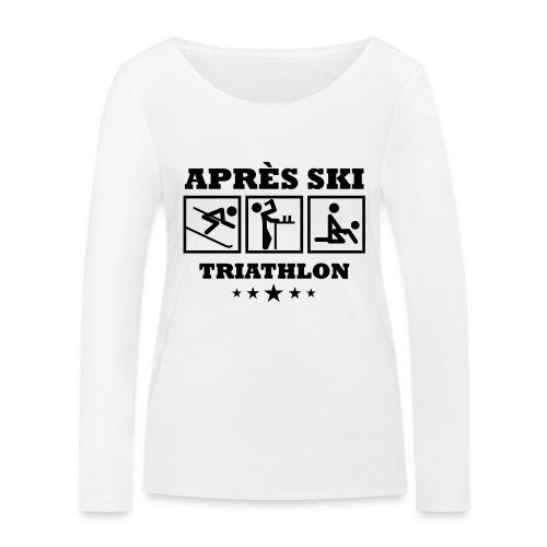 Apres Ski Triathlon | Apreski-Shirts gestalten - Frauen Bio-Langarmshirt von Stanley & Stella