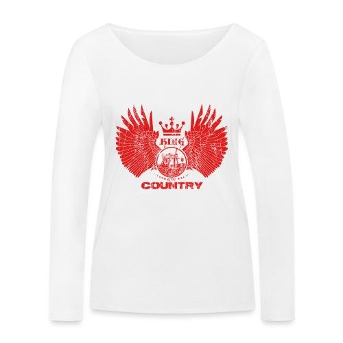 IH KING of the COUNTRY (Red design) - Vrouwen bio shirt met lange mouwen van Stanley & Stella
