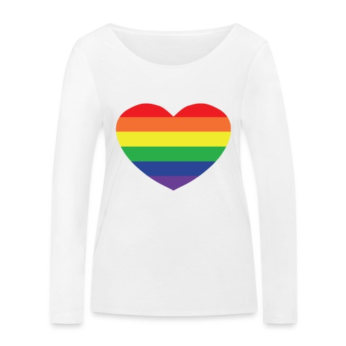 Rainbow heart - Women's Organic Longsleeve Shirt by Stanley & Stella