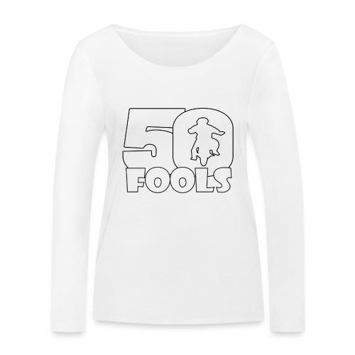 50FOOLSLOGOSPREADSHIRT png - Vrouwen bio shirt met lange mouwen van Stanley & Stella