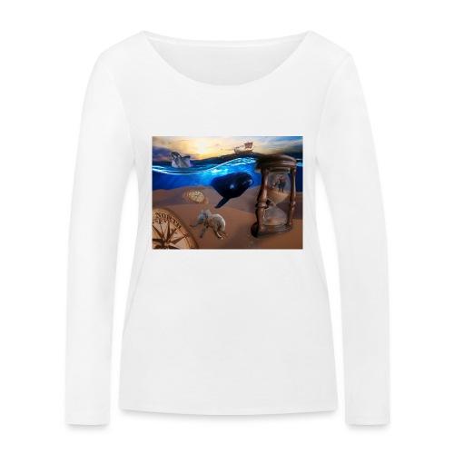 Wodne Przemyślenia - Ekologiczna koszulka damska z długim rękawem Stanley & Stella