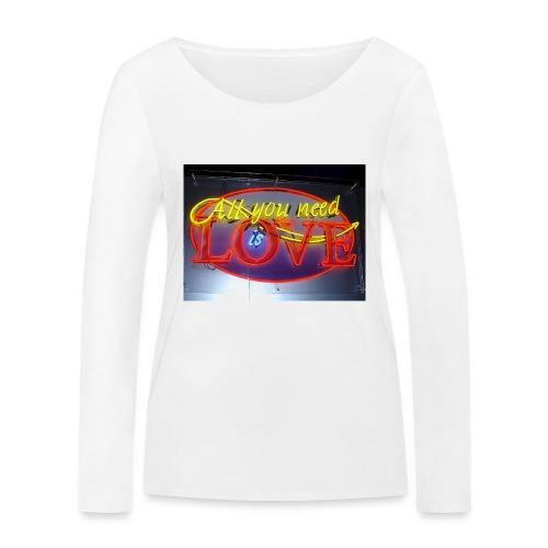 Love - Women's Organic Longsleeve Shirt by Stanley & Stella