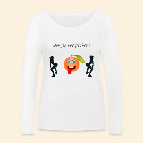 Bougez vos pêches ! - T-shirt manches longues bio Stanley & Stella Femme