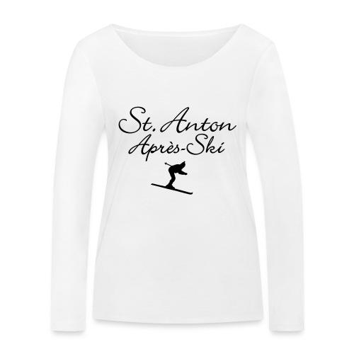 St. Anton Après-Ski Skifahrer - Frauen Bio-Langarmshirt von Stanley & Stella