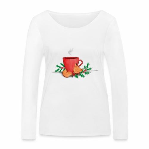 Świąteczny lisek - Ekologiczna koszulka damska z długim rękawem Stanley & Stella