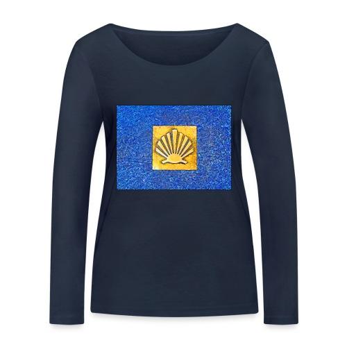 Scallop Shell Camino de Santiago - Women's Organic Longsleeve Shirt by Stanley & Stella