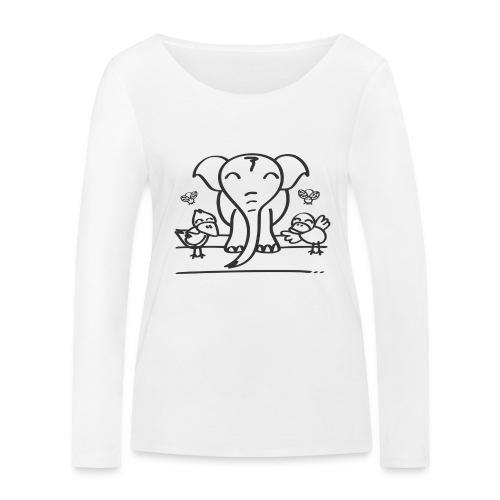 78 elephant - Frauen Bio-Langarmshirt von Stanley & Stella