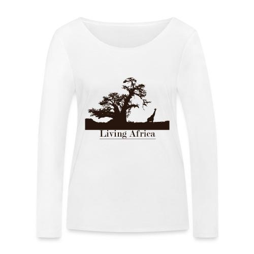 Ultimate_Living_Africa-png - Maglietta a manica lunga ecologica da donna di Stanley & Stella
