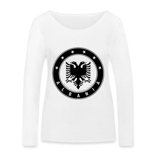 Patrioti Albania Black - Frauen Bio-Langarmshirt von Stanley & Stella