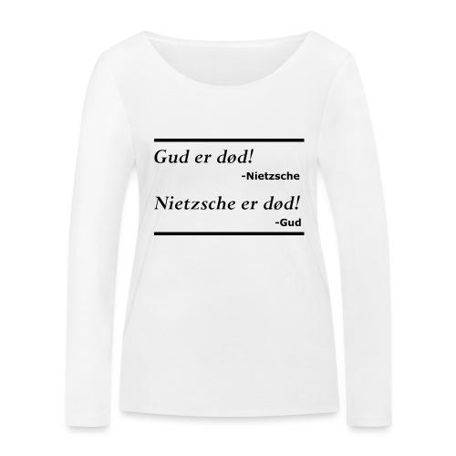 Gud er død sort - Økologisk Stanley & Stella langærmet T-shirt til damer