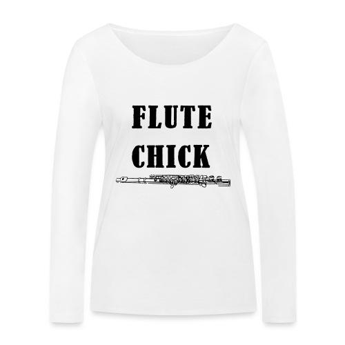Flute Chick - Økologisk langermet T-skjorte for kvinner fra Stanley & Stella