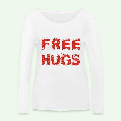 Free Hugs // Flirten // T-Shirt - Frauen Bio-Langarmshirt von Stanley & Stella