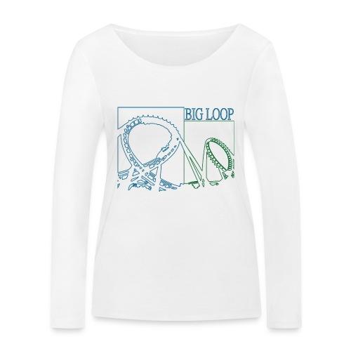 big_loop_coaster_shirt_line - Frauen Bio-Langarmshirt von Stanley & Stella