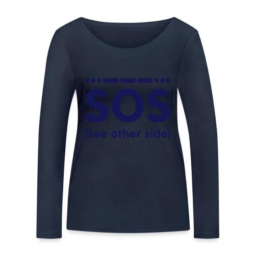 SOS - Vrouwen bio shirt met lange mouwen van Stanley & Stella