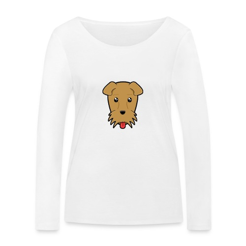 Shari the Airedale Terrier - Women's Organic Longsleeve Shirt by Stanley & Stella