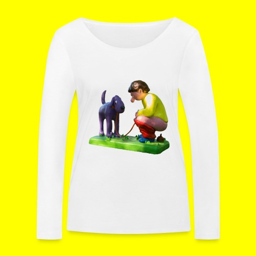 Mannetje Poep vrijstaand - Vrouwen bio shirt met lange mouwen van Stanley & Stella