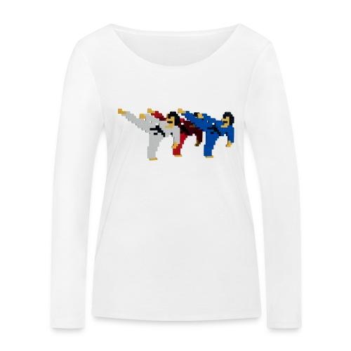 8 bit trip ninjas 2 - Women's Organic Longsleeve Shirt by Stanley & Stella