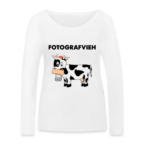 Fotografvieh - Frauen Bio-Langarmshirt von Stanley & Stella